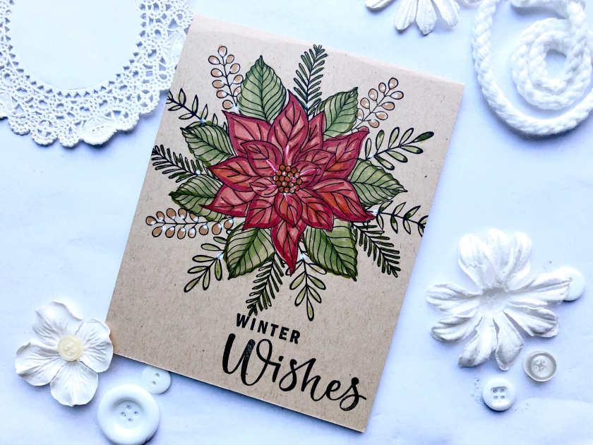 Fun Idea: stamp on kraft for a rustic holiday card